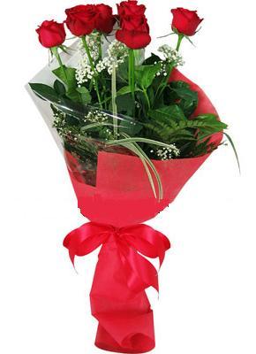 7 adet kirmizi gül buketi  Samsun internetten çiçek siparişi