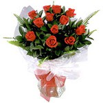 Samsun anneler günü çiçek yolla  9 adet güzel bir gül buketi