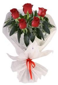 5 adet kirmizi gül buketi  Samsun güvenli kaliteli hızlı çiçek