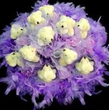 11 adet pelus ayicik buketi  Samsun anneler günü çiçek yolla