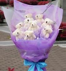 11 adet pelus ayicik buketi  Samsun hediye sevgilime hediye çiçek