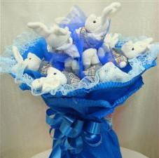 7 adet pelus ayicik buketi  Samsun anneler günü çiçek yolla