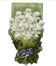 11 adet pelus ayicik buketi  Samsun çiçek yolla , çiçek gönder , çiçekçi