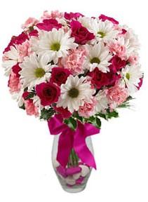 Samsun çiçek mağazası , çiçekçi adresleri  Karisik mevsim kir çiçegi vazosu