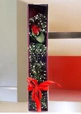 kutu içinde tek kirmizi gül  Samsun çiçek , çiçekçi , çiçekçilik