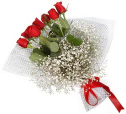 7 adet kirmizimi kirmizi gül buketi  Samsun çiçek satışı