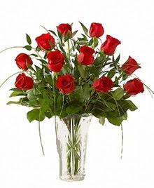 cam yada mika vazo içerisinde 9 kirmizi gül  Samsun çiçek mağazası , çiçekçi adresleri