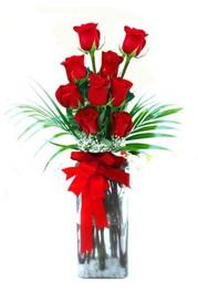 Samsun uluslararası çiçek gönderme  9 adet mika yada cam vazoda gül tanzimi
