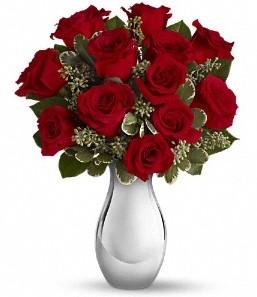 Samsun online çiçekçi , çiçek siparişi   vazo içerisinde 11 adet kırmızı gül tanzimi