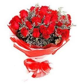 Samsun hediye çiçek yolla  12 adet kırmızı güllerden görsel buket