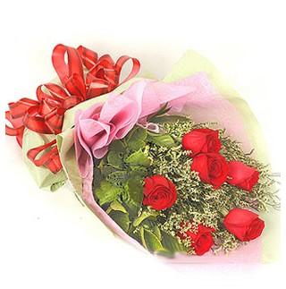 Samsun anneler günü çiçek yolla  6 adet kırmızı gülden buket