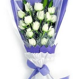 Samsun çiçek servisi , çiçekçi adresleri  11 adet beyaz gül buket modeli