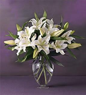 Samsun çiçek siparişi vermek  4 dal cazablanca vazo çiçeği