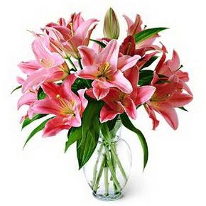3 dal kazablanka görsel vazosu  Samsun yurtiçi ve yurtdışı çiçek siparişi