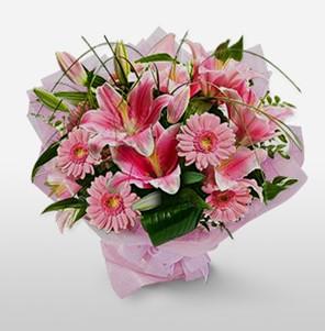 1 dal kazablanka ve kır çiçek görsel buketi  Samsun kaliteli taze ve ucuz çiçekler