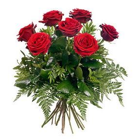 Samsun çiçek yolla , çiçek gönder , çiçekçi   7 adet kırmızı gülden buket