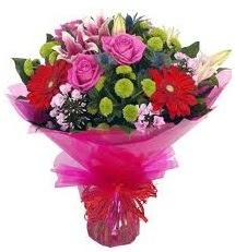 Karışık mevsim çiçekleri demeti  Samsun çiçek yolla , çiçek gönder , çiçekçi