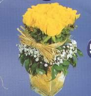 Samsun çiçekçi telefonları  Cam vazoda 9 Sari gül
