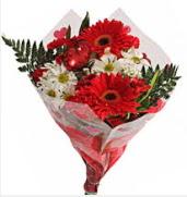 Mevsim çiçeklerinden görsel buket  Samsun güvenli kaliteli hızlı çiçek