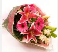 1 dal kazablanka ve mevsim çiçekleri  Samsun yurtiçi ve yurtdışı çiçek siparişi
