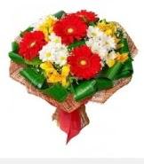 1 demet karışık buket  Samsun çiçek satışı