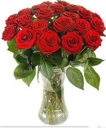 Samsun hediye çiçek yolla  Vazoda 15 adet kırmızı gül tanzimi