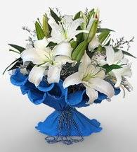 4 dal kazablanka çiçeğinden buket  Samsun İnternetten çiçek siparişi