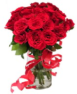 21 adet vazo içerisinde kırmızı gül  Samsun 14 şubat sevgililer günü çiçek
