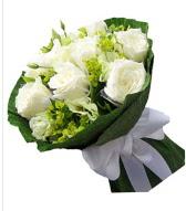 9 adet beyaz gül buketi  Samsun çiçek mağazası , çiçekçi adresleri