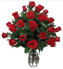 Samsun çiçek mağazası , çiçekçi adresleri  24 adet kırmızı gülden vazo tanzimi