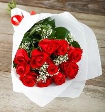 9 kırmızı gülden buket çiçeği  Samsun cicekciler , cicek siparisi