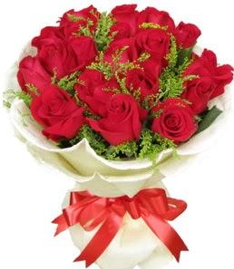 19 adet kırmızı gülden buket tanzimi  Samsun ucuz çiçek gönder