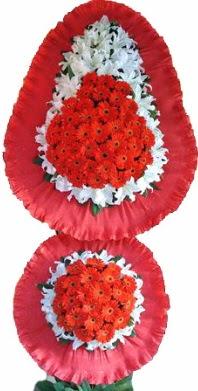 Samsun çiçek yolla , çiçek gönder , çiçekçi   Çift katlı kaliteli düğün açılış sepeti