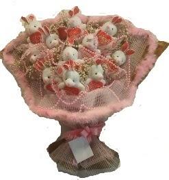 12 adet tavşan buketi  Samsun hediye çiçek yolla