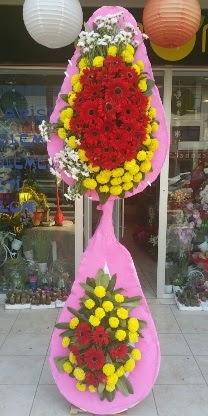 Çift katlı düğün nikah açılış çiçek modeli  Samsun güvenli kaliteli hızlı çiçek