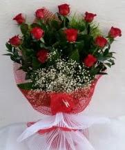 11 adet kırmızı gülden görsel çiçek  Samsun 14 şubat sevgililer günü çiçek