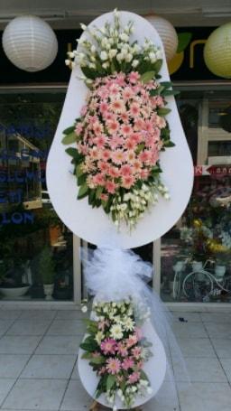 Çift katlı özel şahane sepet çiçeği  Samsun uluslararası çiçek gönderme