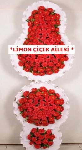 3 katlı kırmızı düğün açılış çiçeği  Samsun cicekciler , cicek siparisi