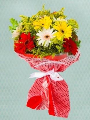 Karışık Gelbera Buketi  Samsun çiçek mağazası , çiçekçi adresleri