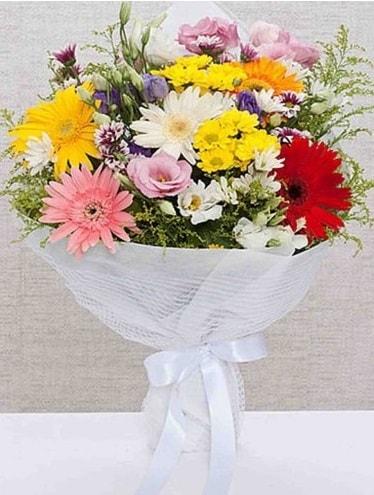 Karışık Mevsim Buketleri  Samsun hediye sevgilime hediye çiçek