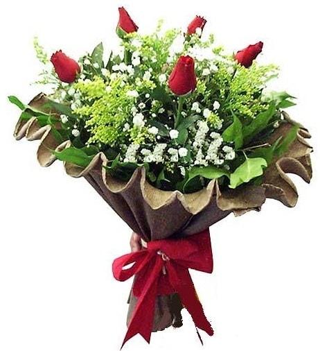 5 adet gülden buket  Samsun online çiçek gönderme sipariş