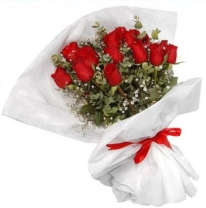9 adet kırmızı gül buketi  Samsun çiçek servisi , çiçekçi adresleri