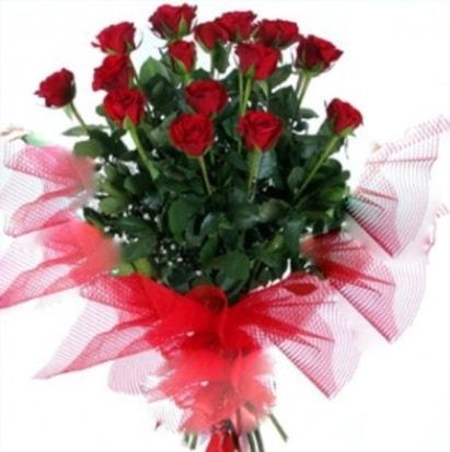 15 adet kırmızı gül buketi  Samsun İnternetten çiçek siparişi