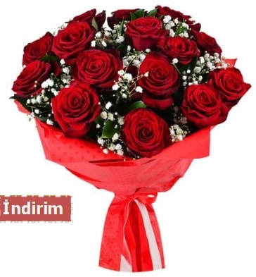 12 Adet kırmızı aşk gülleri  Samsun 14 şubat sevgililer günü çiçek