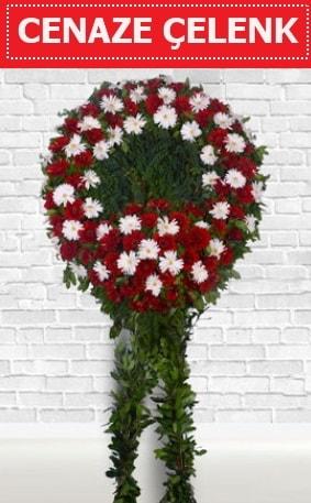 Kırmızı Beyaz Çelenk Cenaze çiçeği  Samsun çiçek siparişi vermek