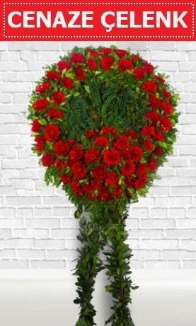 Kırmızı Çelenk Cenaze çiçeği  Samsun çiçek siparişi vermek