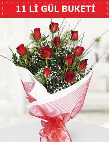 11 adet kırmızı gül buketi Aşk budur  Samsun online çiçek gönderme sipariş