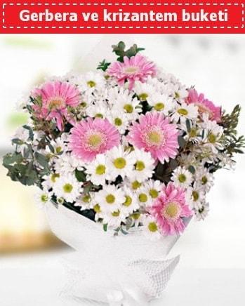 Papatya ve Gerbera Buketi  Samsun anneler günü çiçek yolla