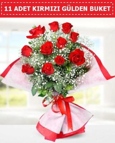 11 Adet Kırmızı Gül Buketi  Samsun yurtiçi ve yurtdışı çiçek siparişi