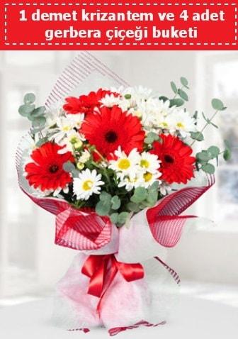 Krizantem ve Gerbera Buketi  Samsun çiçek mağazası , çiçekçi adresleri
